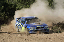 Blade Antennas for Prodrive's Subaru Impreza World Rally Car