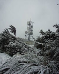 Blizzard conditions on Mt Climie, New Zealand