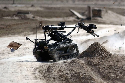An example use of the 2358 on a ground robot. Image courtesy of defence image (File 45141173)